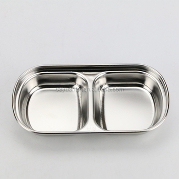 Korean style cheap price stainless steel small dinner plates fast food serving tray / Dishes with & Korean Style Cheap Price Stainless Steel Small Dinner Plates Fast ...