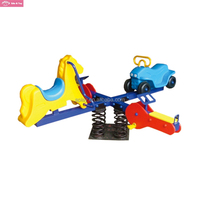 Four seats plastic animal rocking toys playground outdoor children seesaw