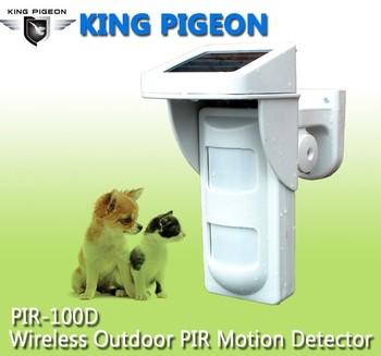 factory low cost 12v wireless outdoor pir motion sensor pir100d