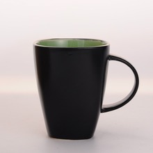 350ml doule color Green tea & coffee cup, ceramic dinner mug
