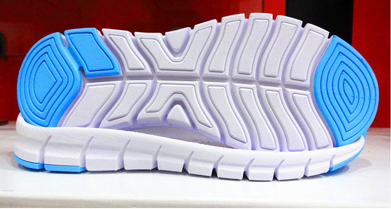 Competitive price double color running sneaker eva outsole