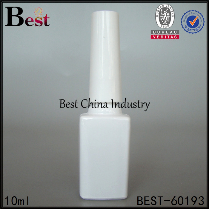 alibaba china 10ml white square empty glass nail gel polish bottle white cap and brush