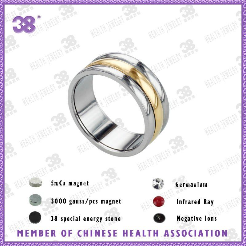 real 24K gold plating Charm fashion titanium magnetic ring