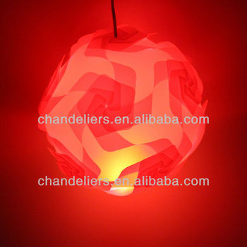 2014 new design iq lamp shade jigsaw puzzle lighting infinity lights