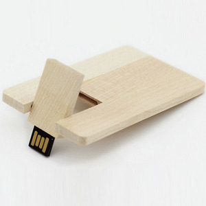 OEM Customized Logo Wooden Credit Card USB,Laser Logo Wooden Business Card USB Pen Drive,Full Color Logo ID Card USB Thumb Drive