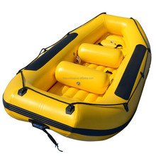 Self-bailing white water river rafting boat inflatable rowing boat