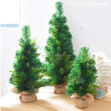 PVC PE Mixed Decorated Artificial Plastic Mini Table Top Christmas Tree