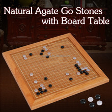 Agate Go Game(Weiqi Game)&Rosewood Weiqi Game Board Travel Version