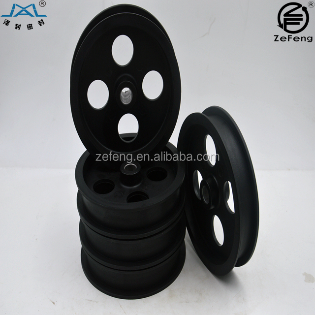 roller pulley wheel / rubber nylon plastic pulley