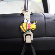 Cartoon Animal Style Car Back Seat Headrest Hanger Holder Hook for Bag Purse Cloth Grocer Auto Fastener Car Back Seat Clip Clasp