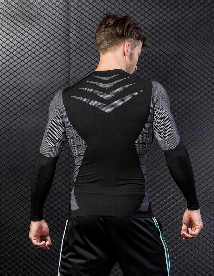 Fitness Sports Quick-drying T-shirt Men's New Long-sleeved 7