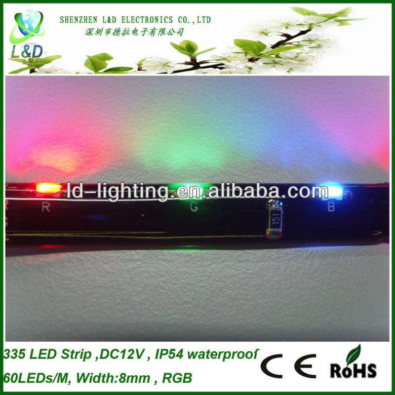 5mm 335 rgb led strip light with CE,RoHS