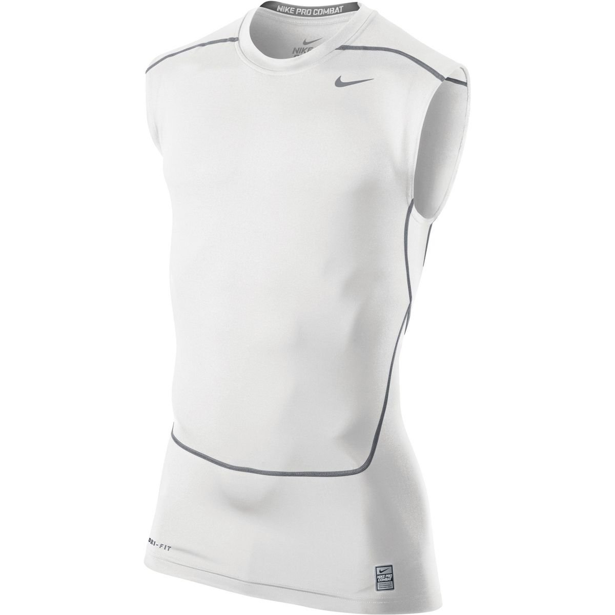 Nike Men's Pro Combat Core 2.0 Compression Sleeveless Top 533324,3XL, White