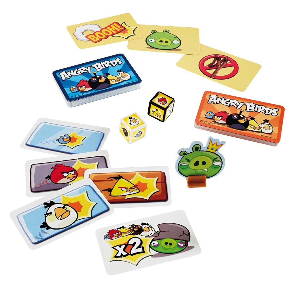 Mattel Travel Card Games Angry Birds, Pictionary and Phase 10