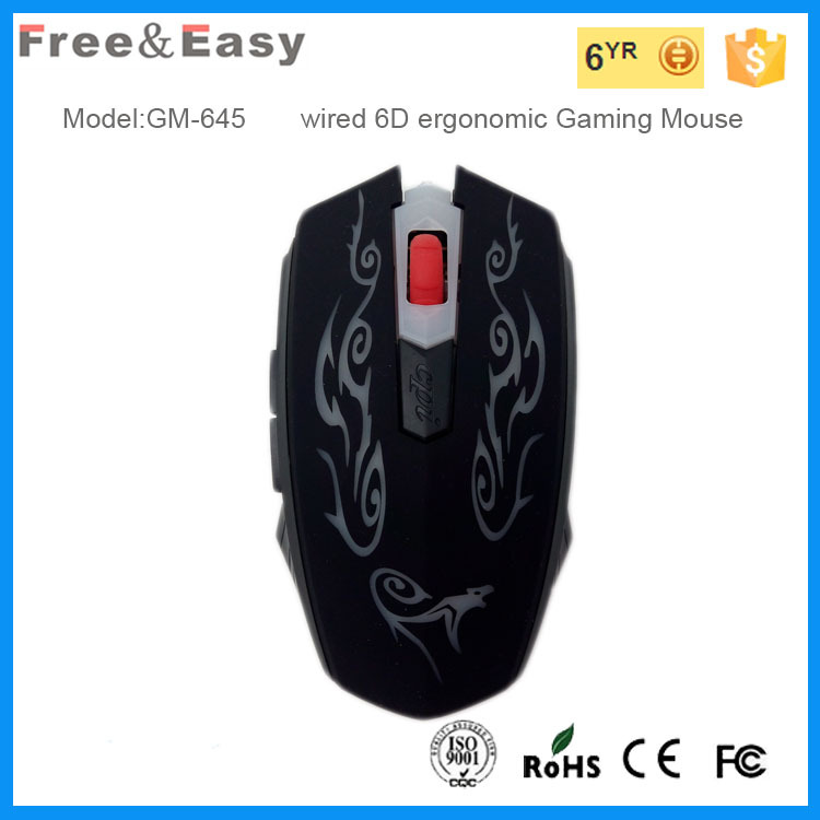 handsome big size wired usb computer mouse