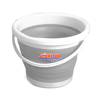 Amazon Hot Sale 3L 5L 10L Plastic Water-proof Flexible Silicone Folding Bucket