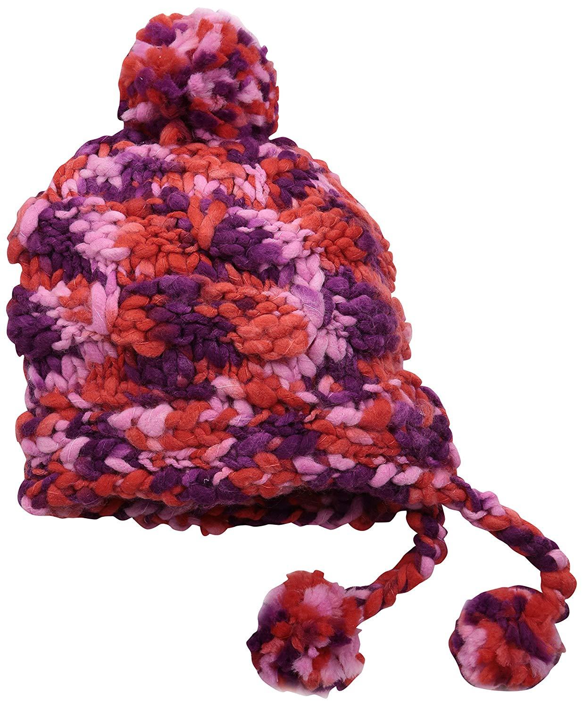 f17c9ce73a6 ... Hand Knitted Beanie Cap Warm Ski Hat Unisex ... Get Quotations · Burton  Girls Nana Earflap Beanie