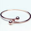Girls accessorize with simple double bead rose gold bracelet clasp bracelet fashion Korean version hand accessory accessory