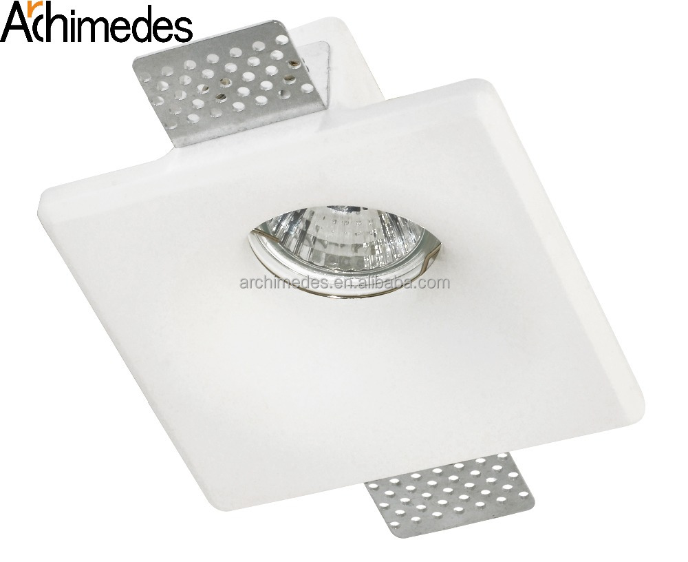 White Gypsum Led Lighting Recessed