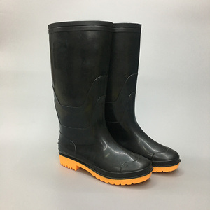 Cheap PVC Garden Black Waterproof man Rain Boots