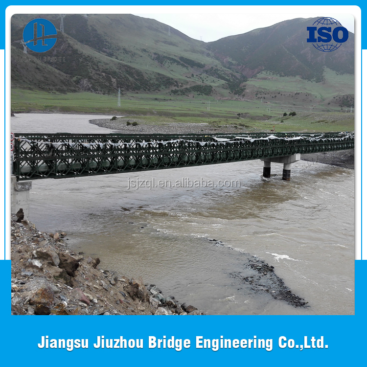Favorable price new design good quality two/double lane bailey bridge