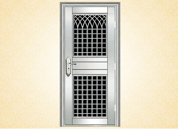 Modern main door design stainless steel wrought iron door for Ss door design
