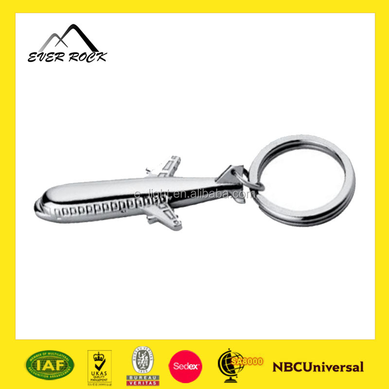 Top Quality Souvenir Casting 3D Airplane Metal Keychain