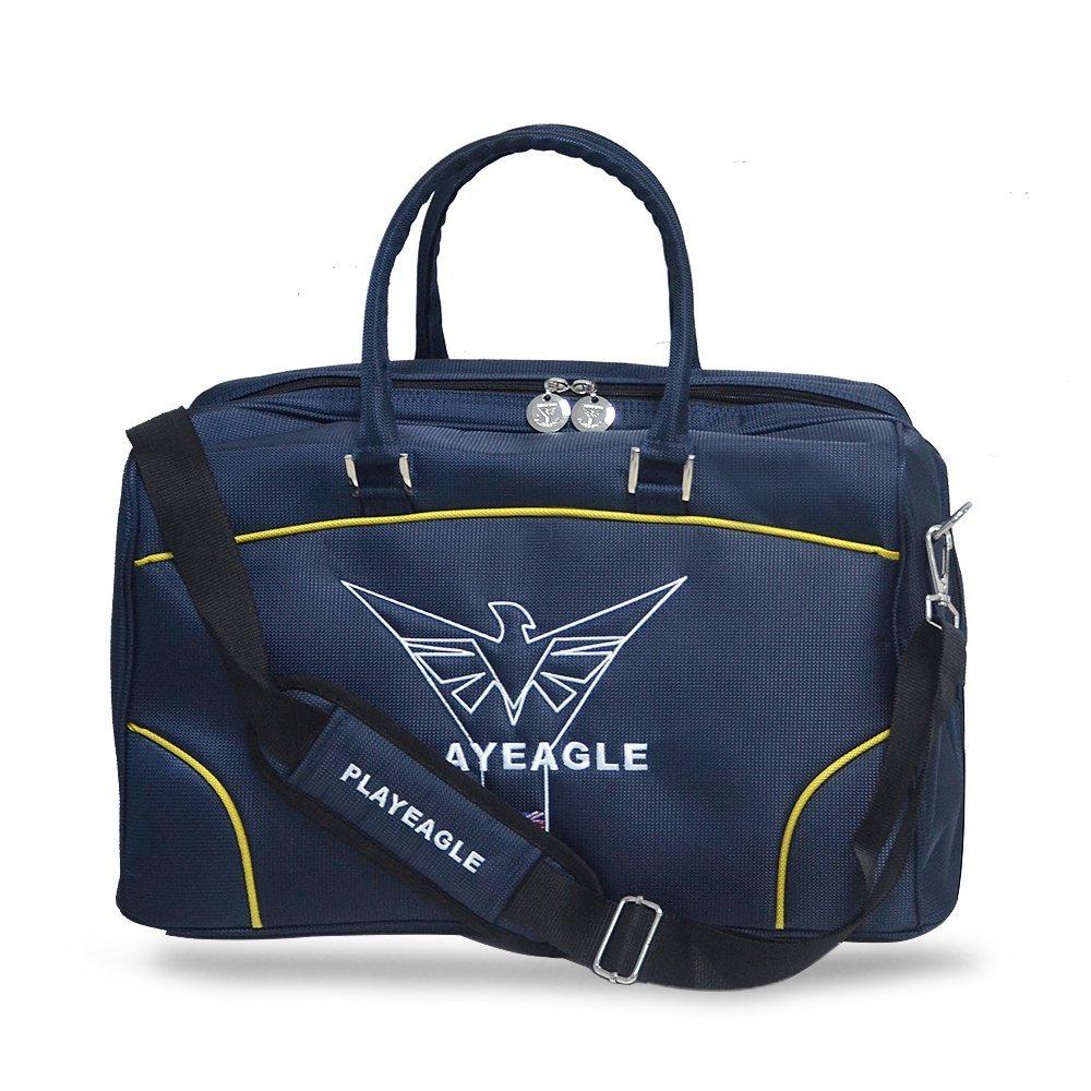 PLAYEAGLE Unisex Nylon Waterproof Large Capacity Golf Boston Bag Travel Duffel Bag with Strap/Shose Pocket