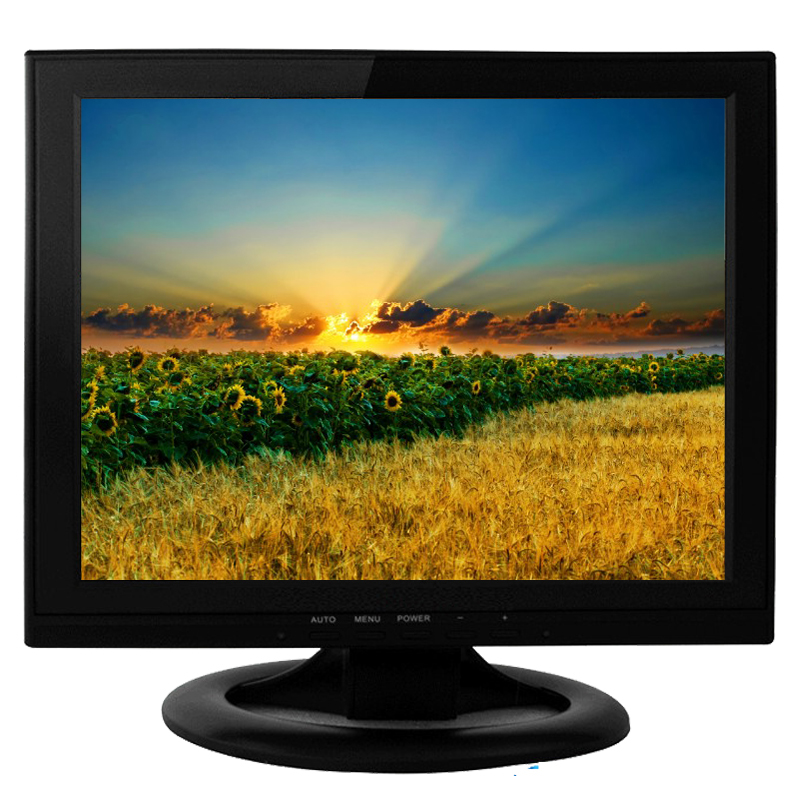 Top quality VGA DVI AV TV input 14 inch square lcd computer monitor
