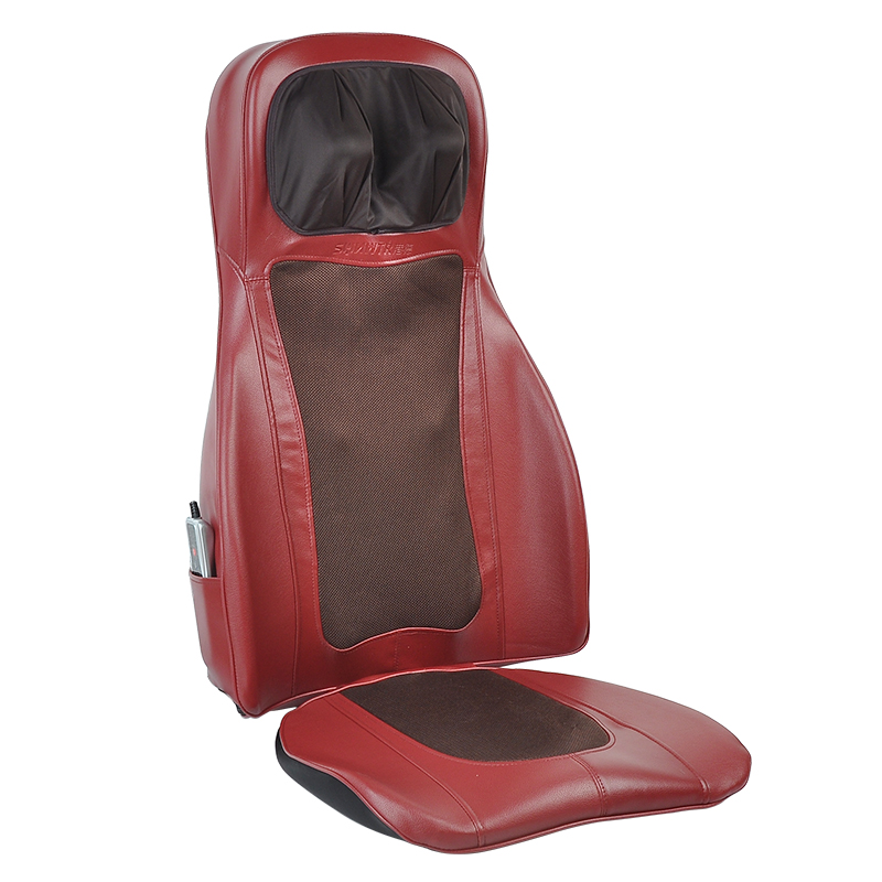 SUNWTR car seat massager cushion with heat shiatsu vibration as seen on tv