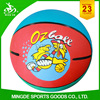 rubber material children mini customized toy basketball