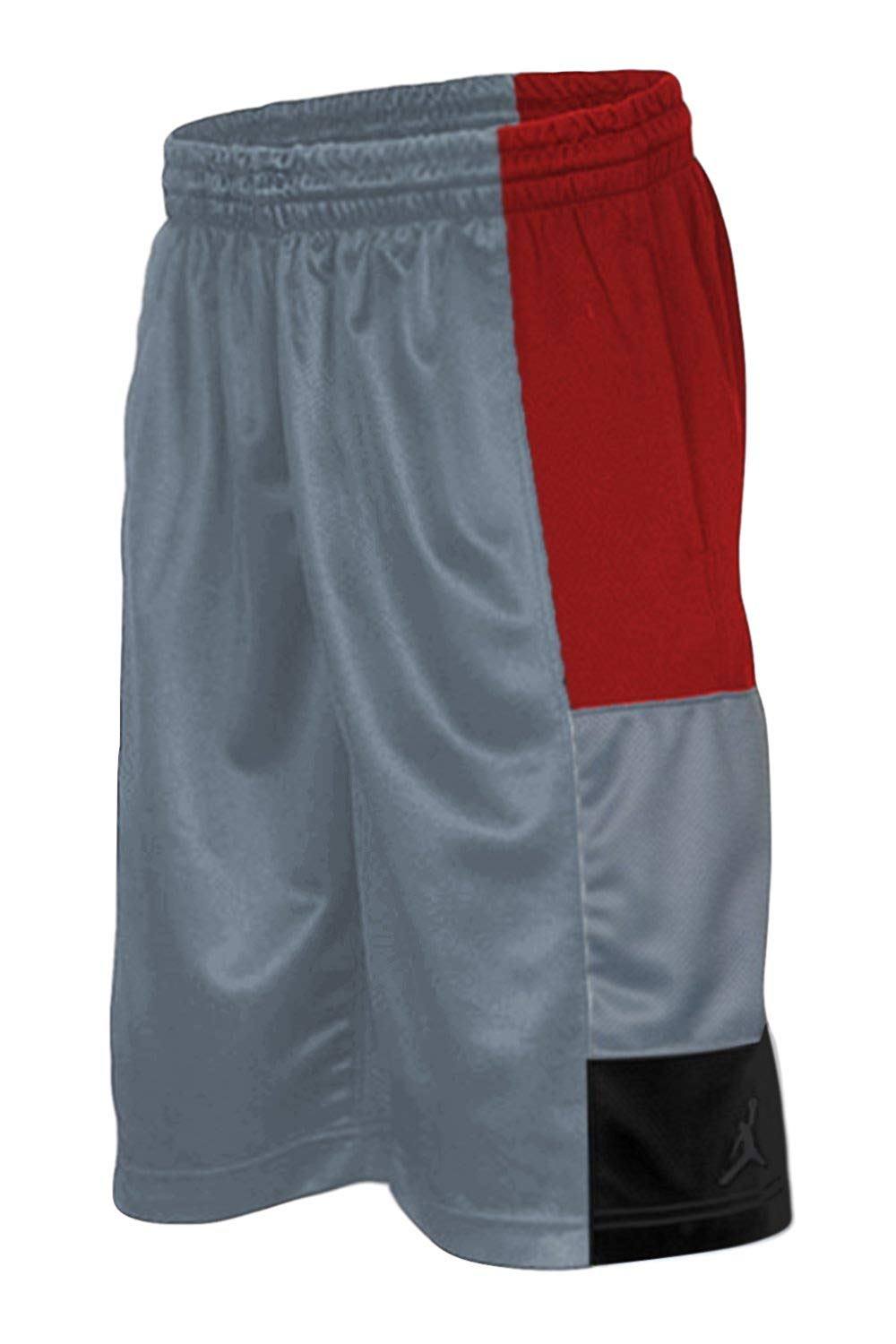 2b67bd66792 Get Quotations · Boys' Jordan Trillionaire Basketball Shorts, Cool Grey,  Black, Red, Medium