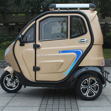 Battery operated three wheel electric passenger vehicle for the disabled