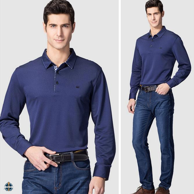 T-MT515 Button Up Cuffs Cotton Polo Shirt High Quality Mens Apparel China