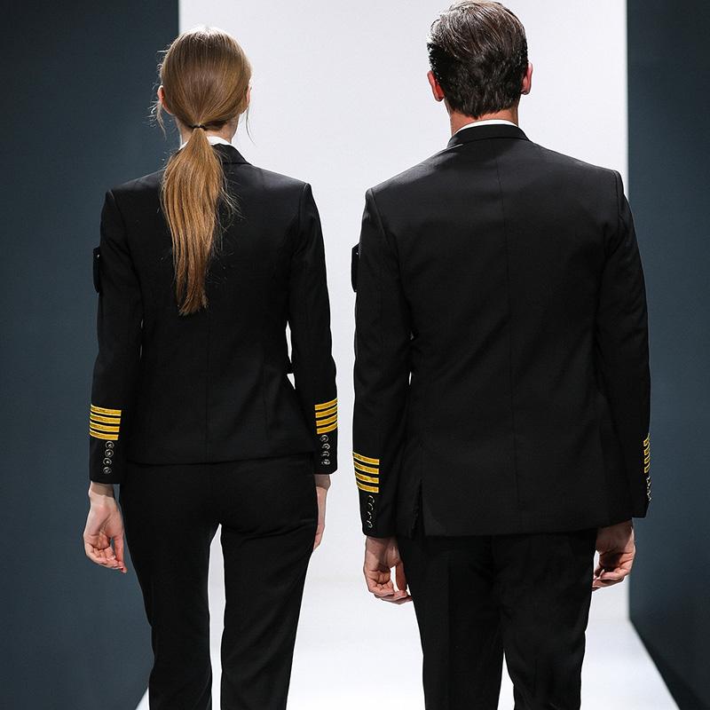 Custom fashion design airport military women pilot unioforms with accessories aviation airline captain pilot uniform
