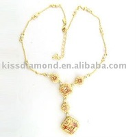 Plated gold Chmpagne necklaces