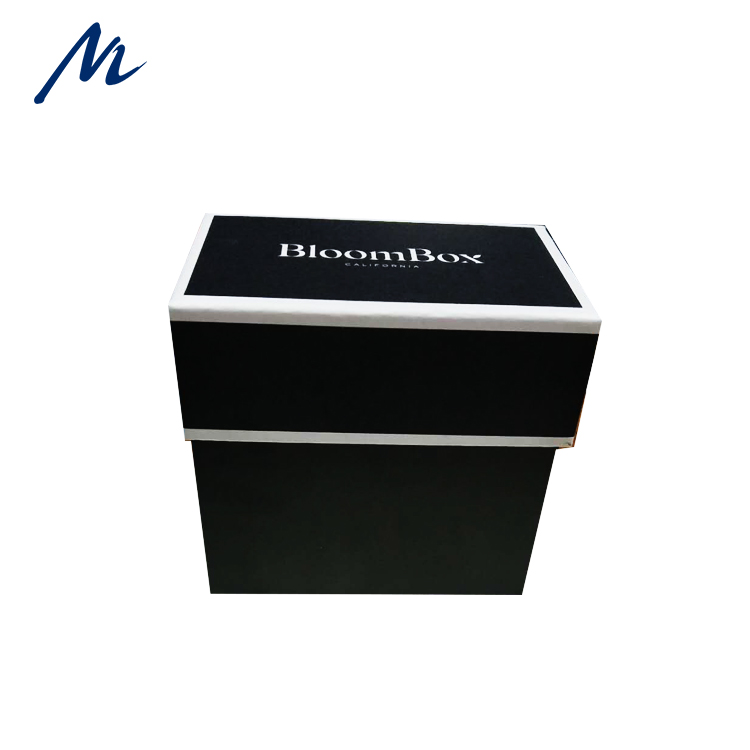 Luxury custom design black paper box for packing