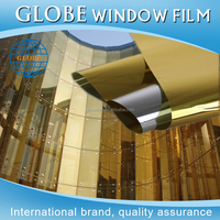 One way vision glass sun protection building solar tint window glass film with free sample