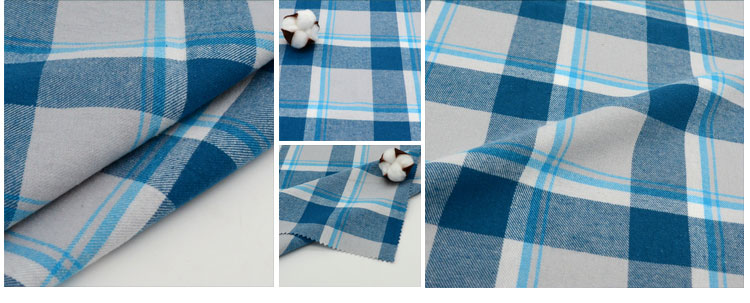 100% cotton woven yarn dyed check ready bulk both side brush wholesale stock lot flannel import gingham fabric from china