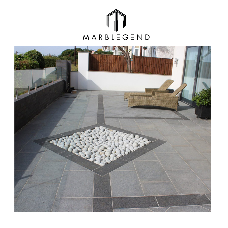 Simple processing framed wholesale natural granite paving stone