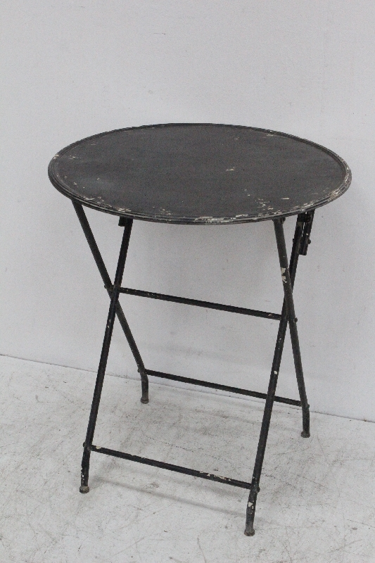 Rustic Round Folding Small Side Metal Outdoor Table Buy Folding