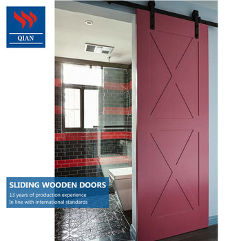 Artistic Hang Sliding Door Interior Wood Sliding Barn Doors Design