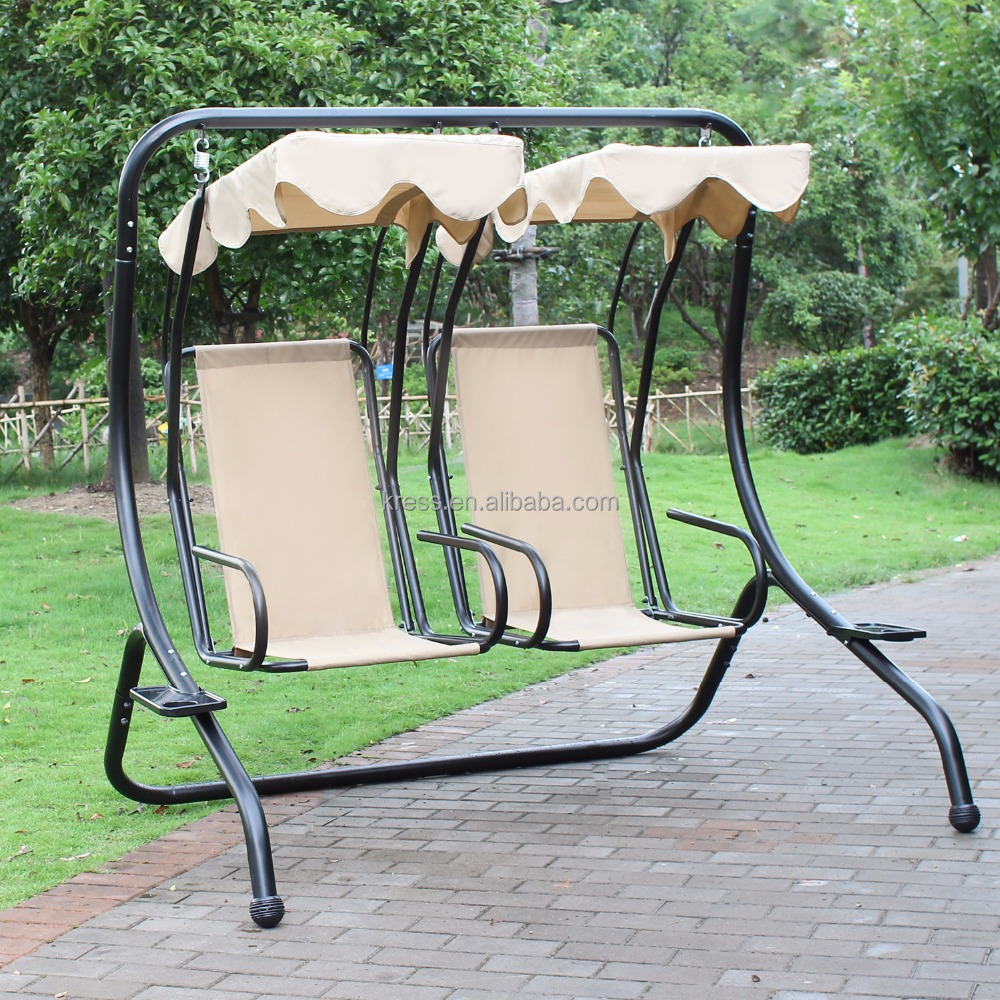 Yard Garden & Outdoor Glider Swing seat with Upholstery Dual Seater
