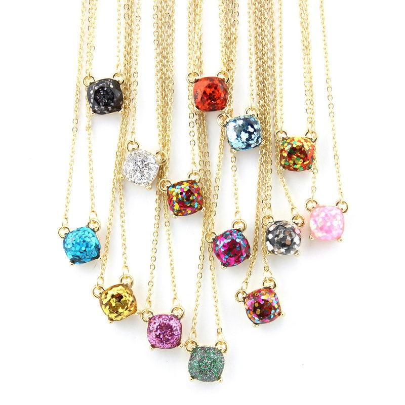 Amethyst Rhinestone Pendant Necklace Women 925 Sterling Jewelry  Luxury Usable