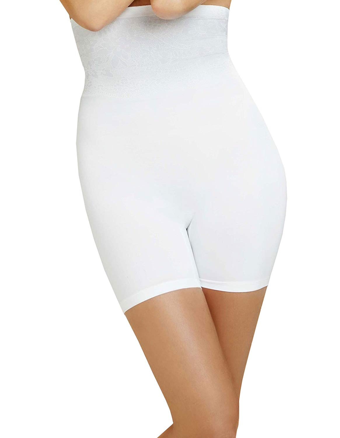 Body Wrap Shapewear White The Catwalk High-Waist Long Leg Panty 49590