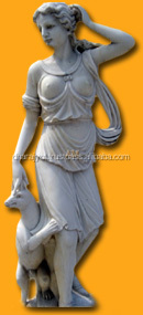 white marble lady statue Stone women sculpture