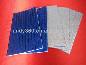 blue coating aluminum foil bubble insulation material with woven/heat roof bubble insulation