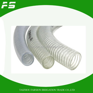 Flexible PVC Steel Wire Reinforcement Hose Water Pump Suction Discharge Hose Pipe