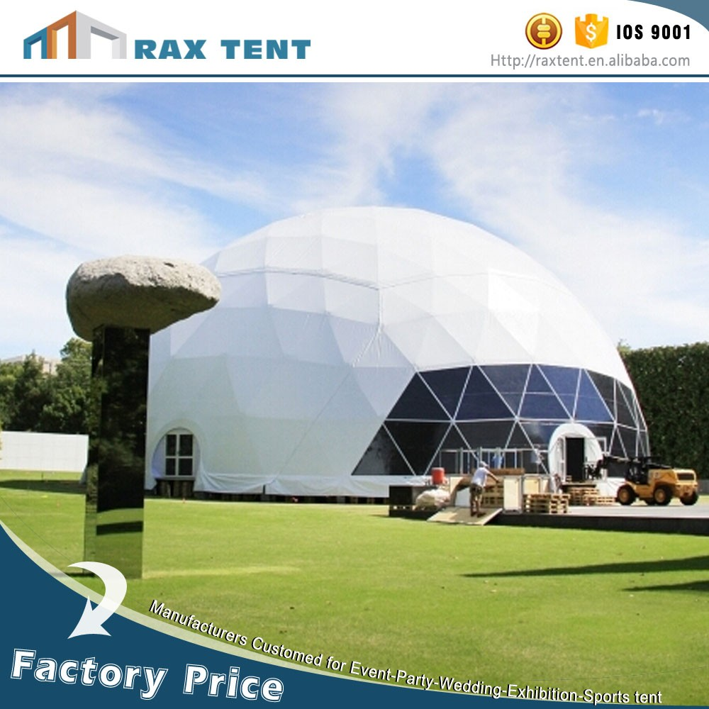 Steel Dome Homes: 15m Diameter High Snow Bearing Winter Geodesic Dome Tent