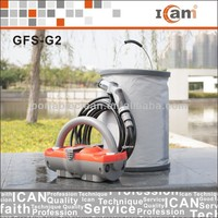 GFS-G2-12V Shower kit, portable emergency bathroom shower with 12V Car charging Cable & 15L folding bucket